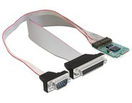 Modul Industrial MiniPCIe I/O PCIe full size 1 x serial RS-232, 1 x parallel ,  Delock, 95138